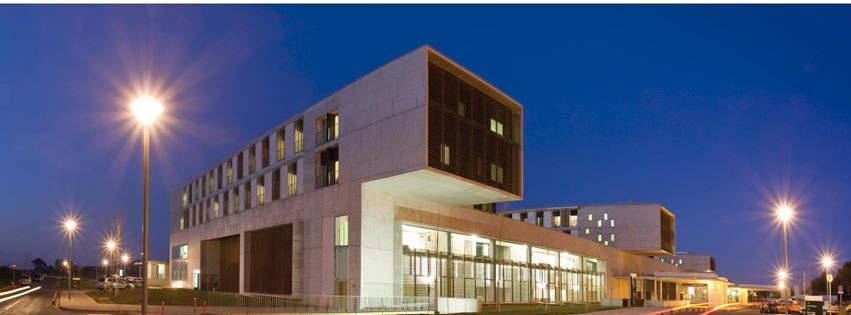 The shiny new Denia hospital (image via Marina Salud)